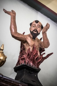 Statuetta Anima del Purgatorio.