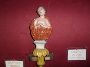 Bastone processionale del Priore della Confraternita.