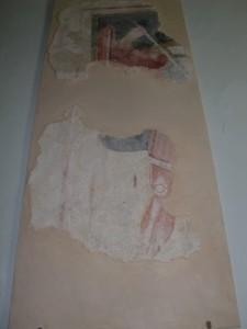 Parte di affresco di S. Michele Arcangelo.