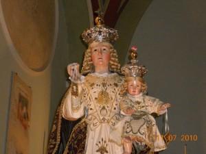 Statua Madonna del Carmine.