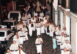 Processione Madonna del Carmine 2007 con Sua Ecc. Angelo Spinillo. 2007